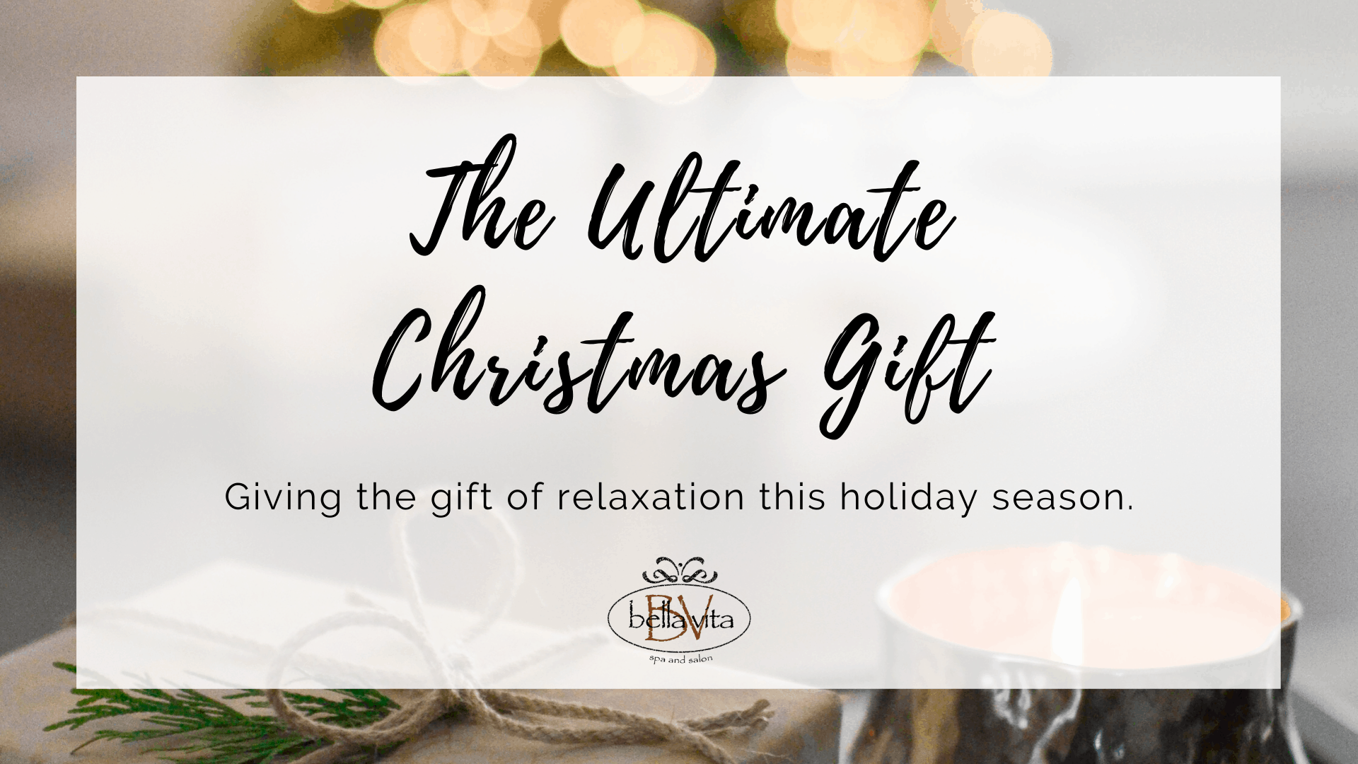 Giving Relaxation for Christmas Gift